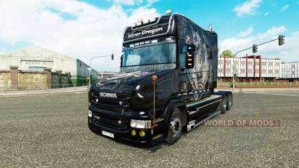 Silver Dragon skin for Scania T truck for Euro Truck Simulator 2