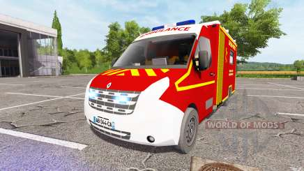 Renault Master Ambulance v2.0 for Farming Simulator 2017