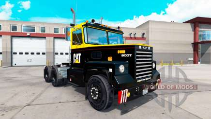 The skin of the Caterpillar tractor Scot A2HD for American Truck Simulator