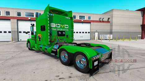 Boyd Transportation skin for the truck Peterbilt for American Truck Simulator