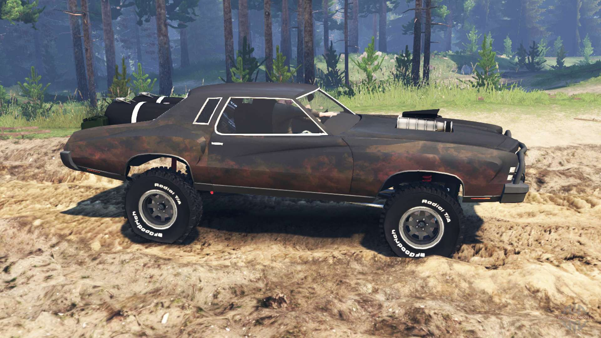 Chevrolet Monte Carlo 1973 Mad Max For Spin Tires