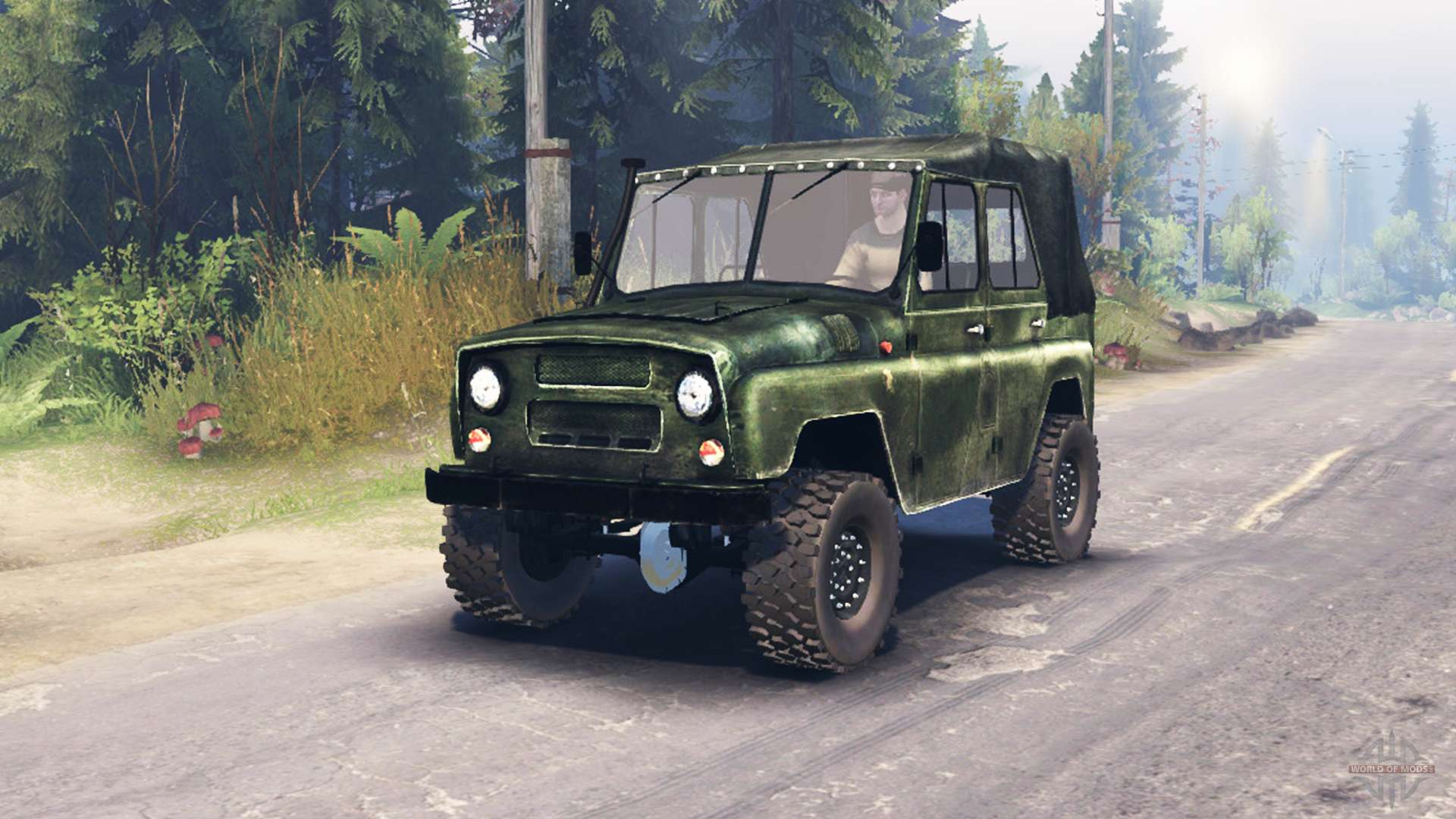 uaz 469 hd for spin tires. Black Bedroom Furniture Sets. Home Design Ideas