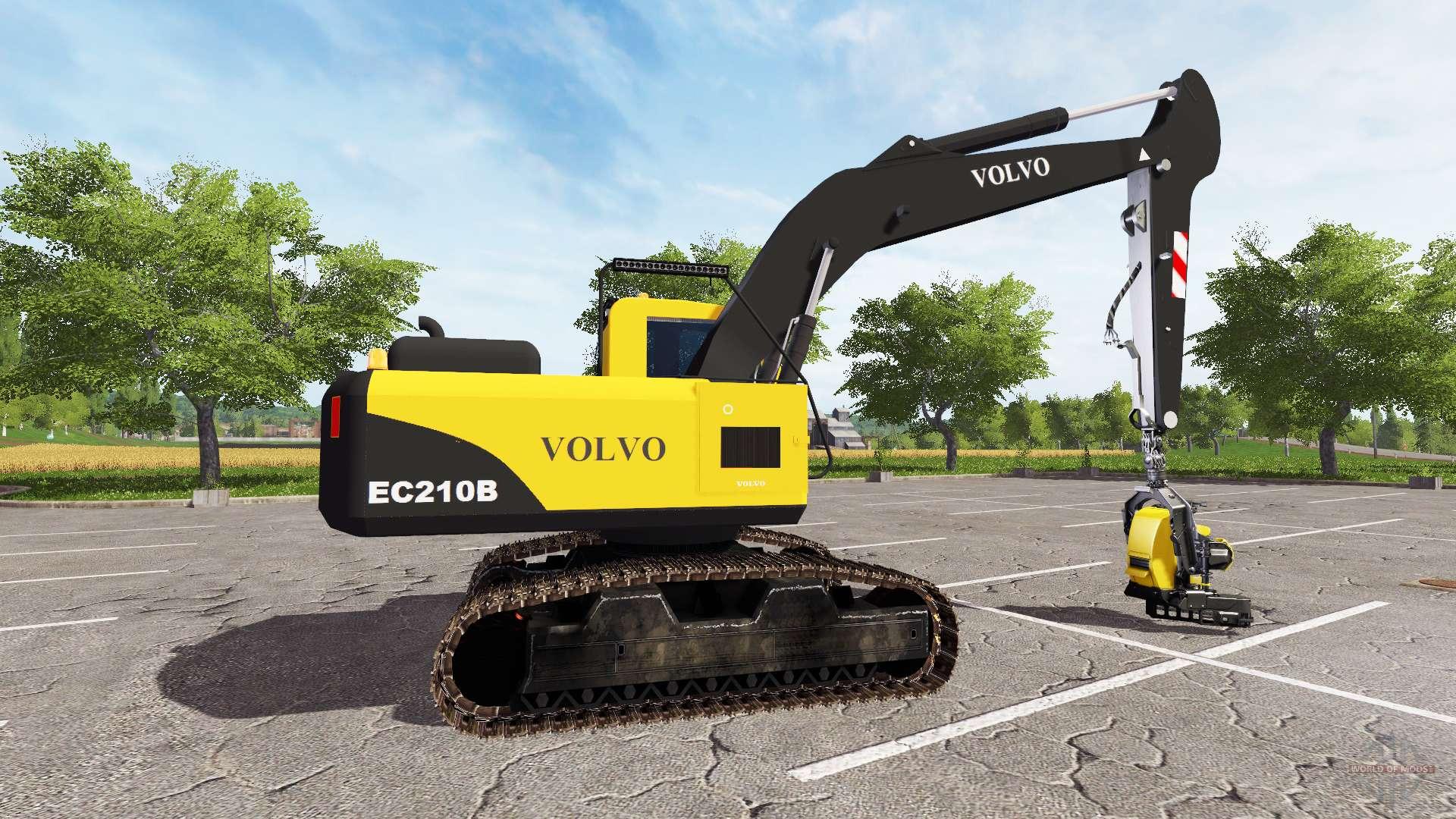 volvo ec210b forest for farming simulator 2017