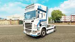 Hovotrans skin for the truck Scania for Euro Truck Simulator 2