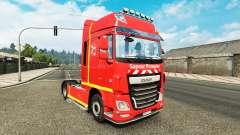 Skin Sapeur Pompier on tractor DAF for Euro Truck Simulator 2