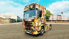 Graffiti skin for Scania truck for Euro Truck Simulator 2