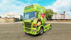 Skin Kermit the Frog on tractor Scania