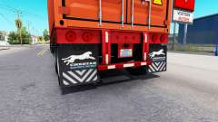 Updated mud flaps of semi-trailers