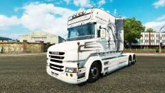 White Dragon skin for truck Scania T