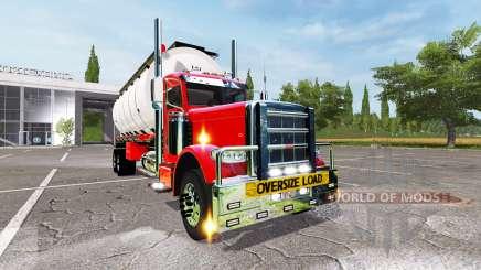 Peterbilt 388 tanker for Farming Simulator 2017