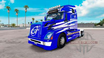 Skin First Class on the Volvo trucks VNL 670 for American Truck Simulator