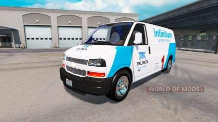 Skin Telmex on tractor Chevrolet Express 3500 for American Truck Simulator