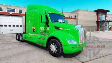 Boyd Transportation skin for the truck Peterbilt 579 for American Truck Simulator