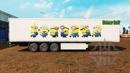 Skin Minions on the trailer for Euro Truck Simulator 2