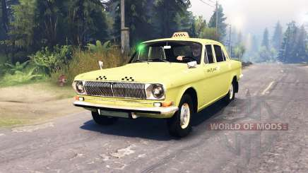 GAZ-24 Volga Taxi v2.0 for Spin Tires