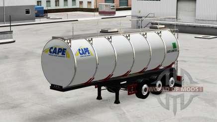 Food tank semi-trailer Menci for American Truck Simulator