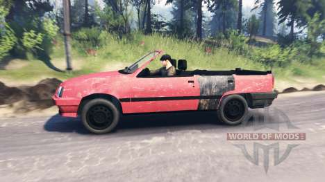 Opel Kadett Cabrio (E) v2.0 for Spin Tires