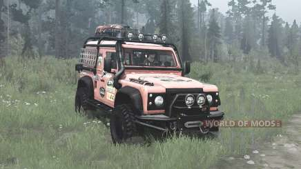 Land Rover Defender 90 Station Wagon expedition for MudRunner
