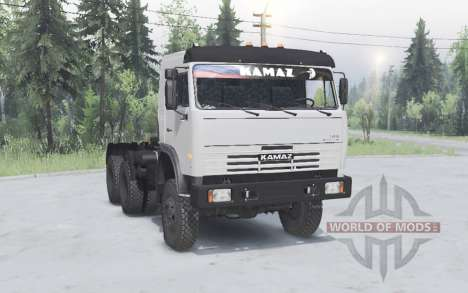 KamAZ 54115 6x6 for Spin Tires