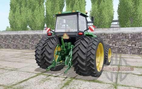 John Deere 4755 double wheels for Farming Simulator 2017