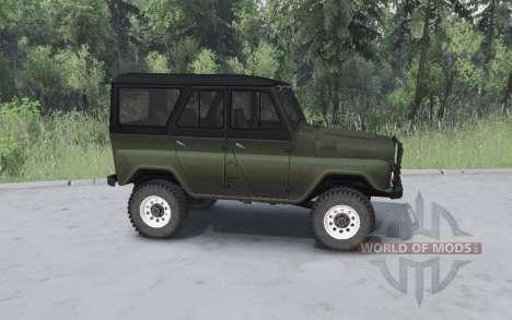 UAZ 469 khaki for Spin Tires