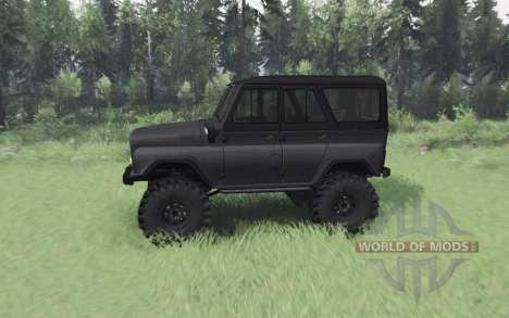 UAZ 469 dark grey for Spin Tires