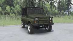 UAZ 469 khaki for Spin Tires