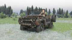 Rusty UAZ 469 v1.3 for Spin Tires