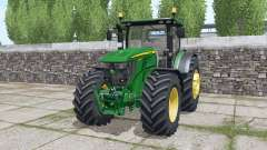 John Deere 6230R dynamic exhaust for Farming Simulator 2017