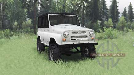 UAZ 469 white for Spin Tires