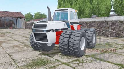 Case 2870 Traction King twin wheels for Farming Simulator 2017