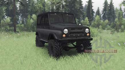 UAZ 469 dark grey for Spin Tires