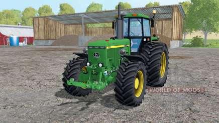 John Deere 4455 twin wheels for Farming Simulator 2015