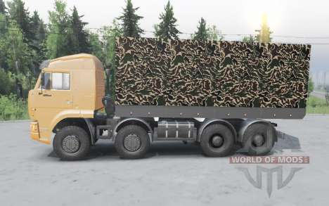 KamAZ 65201 8x4 2011 for Spin Tires