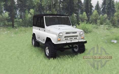 UAZ 469 white v1.1 for Spin Tires