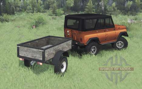 UAZ 469 orange v1.1 for Spin Tires