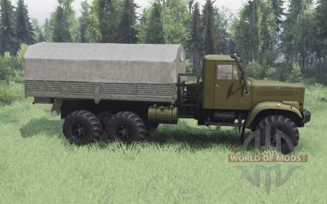 KrAZ 255B olive v1.1 for Spin Tires