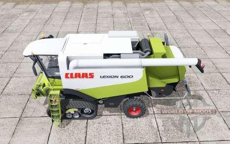 Claas Lexion 600 crawler for Farming Simulator 2017