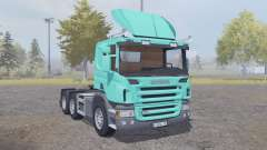 Scania P420 bright turquoise v2.2 for Farming Simulator 2013