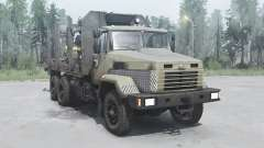 KrAZ 6322 dark-grey-yellow for MudRunner