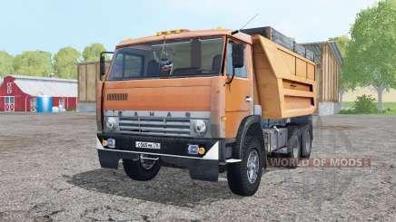 KamAZ 55111 moderately-orange for Farming Simulator 2015