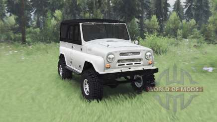 UAZ 469 white v1.1 for Spin Tires