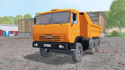 KamAZ 55111 2002 bright orange for Farming Simulator 2015