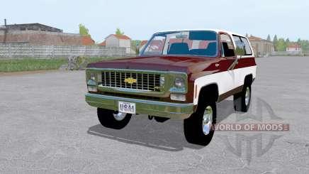Chevrolet K5 Blazer 1973 dark desaturated pink for Farming Simulator 2017