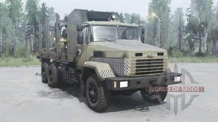 KrAZ 6322 dark-grey-yellow for MudRunner