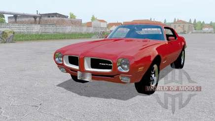 Pontiac Firebird (228-87) 1970 red for Farming Simulator 2017