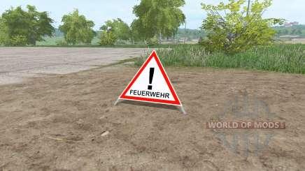 Warning Sign for Farming Simulator 2017