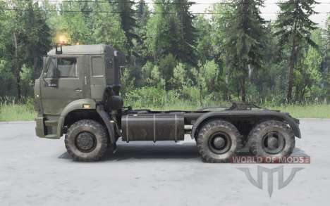 KamAZ 65225 for Spin Tires