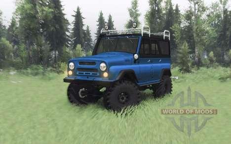 UAZ 469 blue v1.1 for Spin Tires