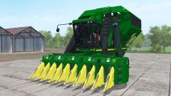 John Deere 9950 with headers for Farming Simulator 2017